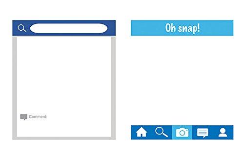 Creative Converting 324566 Social Snaps Photo Frames Bilderrahmen, Pappe, mehrfarbig