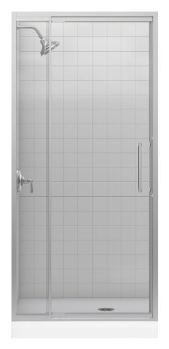 Lowest Prices! Kohler K-705816-L-NX Lattis 3/8 Pivot Door, Brushed Nickel