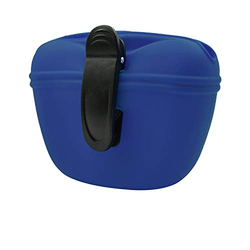UMI. Essential Silicone Dog Treat Pouch with Clip,Portable Dog Food Container for Training,Convenient Magnetic Buckle Closing and Waist Clip,Food Grade Silicone BPA Free