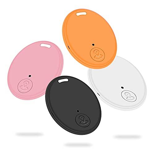 Aweskmod Wireless Schlüsselfinder,4 Pcs/Pack Wireless Handy-Finder, Smart Tracker, Smart Tags GPS mit Android und iOS, um Brieftaschen, Gepäck, Haustiere, Koffer, Kamera - Bunt