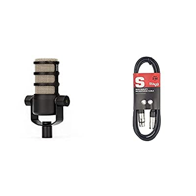 RØDE Microphones PodMic Dynamic Podcasting Microphone & Stagg 3m XLR to XLR Plug Microphone Cable
