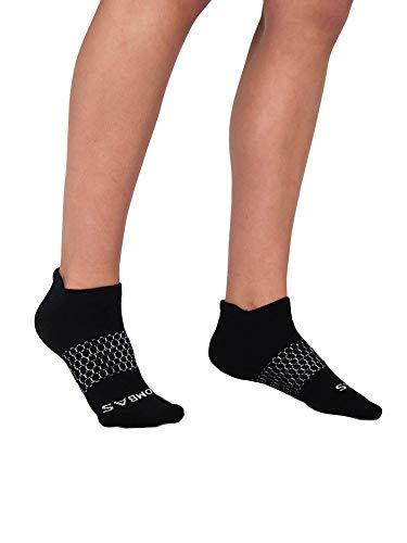 Bombas Women's Originals Black Ankle Socks, Size Medium