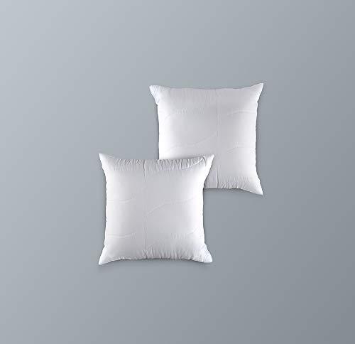 2er Set Mikrofaser Kopfkissen Kaliope 40 x 40 cm - Premium Top-Qualität Allergiker Komfortkissen