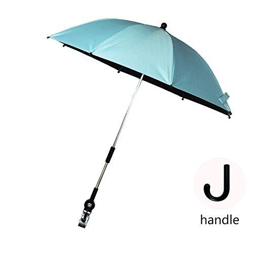 ZMXZMQ Paraguas Impermeable A Prueba De Viento Anti-UV, Cubierta De Toldo para Lluvia, Sombrillas Personales, para Cochecito De Bebé, Silla De Ruedas, SPF 50+,Azul,72cm