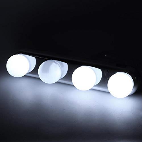 Omabeta Lámpara de Maquillaje con batería Durable ABS Diseño inalámbrico Espejo de Maquillaje Luz para gabinetes