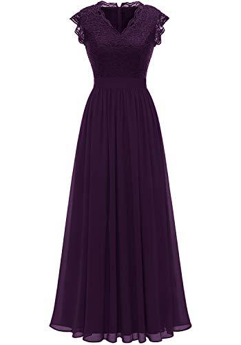 Dressystar - Vestido de dama de honor sin mangas con cuello en V para mujer, vestido de fiesta de boda, Vestido de baile, XXL