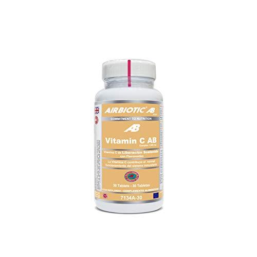 Airbiotic AB - Vitamina C AB Complex 1.000 mg -  30 tabletas de Liberación Sostenida. Vitaminas para el Sistema Inmunitario y contra la Oxidación