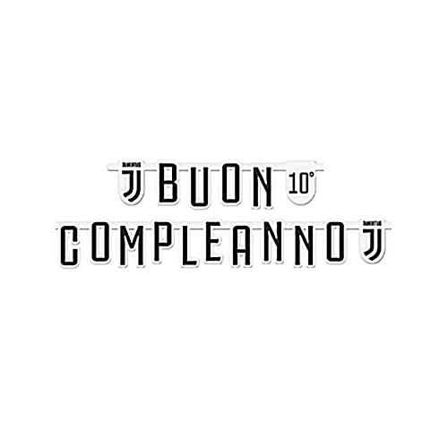 Bigiemme Festone Buon Compleanno Jumbo 294x20cm Personalizzabile con Adesivi Juventus