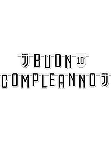 Bigiemmee Buon Compleanno Jumbo 294 x 20 cm, personaliseerbaar met Juventus-stickers, meerkleurig, 6B120001
