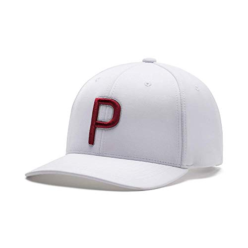 PUMA Golf 2020 Men's P Hat (Men's, Bright White-Barbados Cherry,One Size)