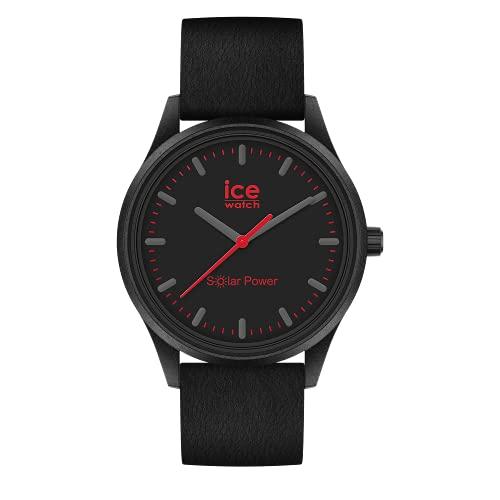 Ice-Watch - ICE Solar Power Lava - Montre Noire pour Homme avec Bracelet en Silicone - 019027 (Medium)