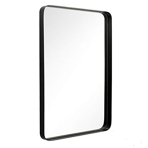 ANDY STAR Wall Mirror for Bathroom, 24x36 Inch Black Bathroom Mirror, Stainless -