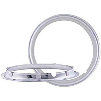 BA Products Set of 4 - Phoenix 1603 16  ABS Chrome Plated Trailer Beauty Trim Ring for 16  Trailer Wheels
