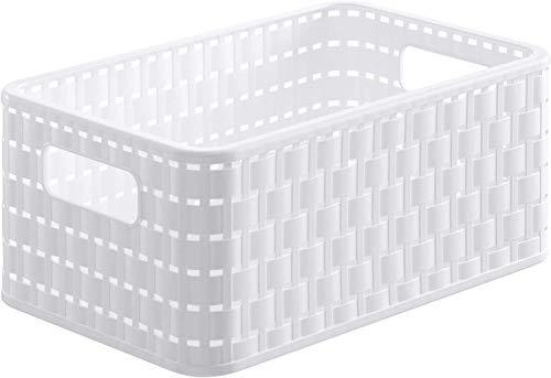 Rotho Country Aufbewahrungskiste 6l, Kunststoff (PP), Weiß, 6 Liter (28x18,5x12,6 cm)