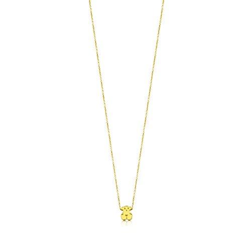 TOUS Collar con colgante Mujer oro amarillo de 18kt. Largo 45 cm, Colección Sweet Dolls