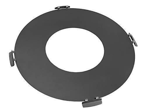 BlackOrange grill plate – Plancha made of steel Ø 102 cm with fire hole Ø 50 cm and 4 handles for fire bowls with diameter of 100 cm