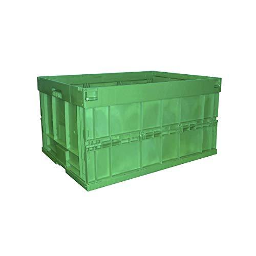 WALTHER Faltbox aus Polypropylen - Inhalt 200 l, ohne Deckel, grün - Faltboxen Kunststoff-Behälter Lagerkästen Stapelbehälters Kunststoff Klappbehälter Stapelkästen aus Kunststoff Klappboxen Faltboxen Kunststoff-Behälter Lagerkästen Stapelbehälters