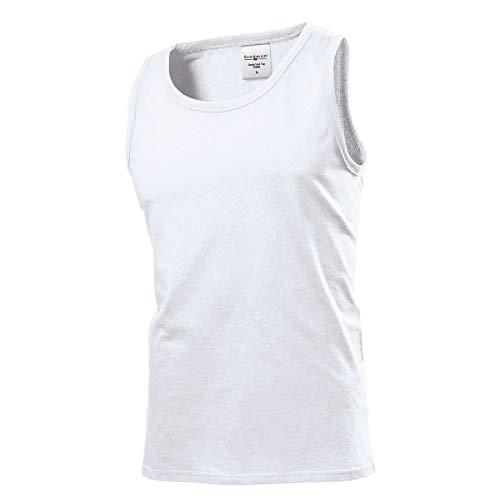 Stedman Apparel Classic Tank Top/ST2800 T-Shirt, Bianco, XL Uomo