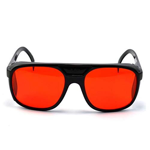 HSJSY Estilo Retro Gafas Daltónicas de Color Rojo/Verde – Deután Leve, Moderado y Fuerte (Verde) – Protán Leve, Moderado (Rojo), Corrección de Debilidad de Color