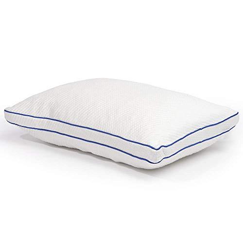 XAJGW Almohada de Espuma viscoelástica con Cubierta de bambú Transpirable para Dormir, Almohada de Cama hipoalergénica Ajustable y cómoda, tamaño estándar
