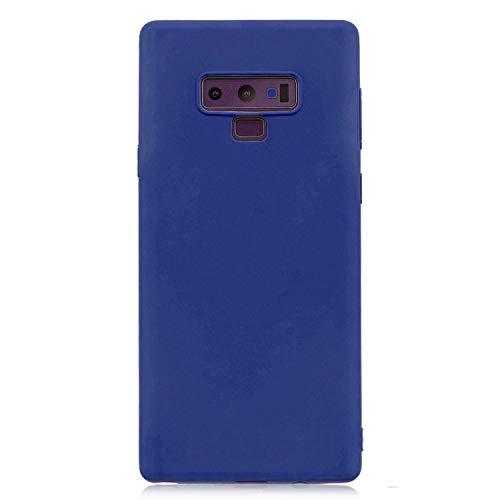 cuzz Custodia Samsung Galaxy Note 9+{Film di Vetro temperato}Silicone TPU Cover Morbida Protettiva Custodia Ultra Sottile Leggero Cover-Blu Scuro