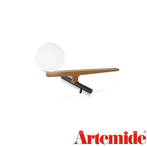 Artemide Yanzi Table LED Lampe de table Laiton Verre Noir & Hu