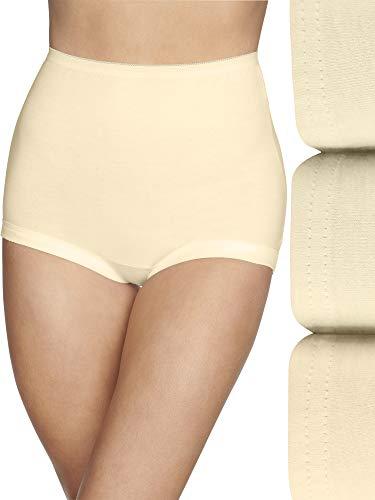Vanity Fair Women's Lollipop Plus Size Brief Panties 15861, Covered Leg Opening - Candleglow (3 Pack), 7