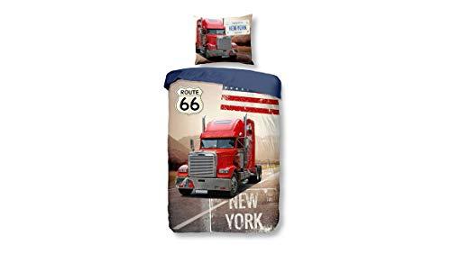 Snoozing Truck - Bettwäsche - 140x200/220 cm + 1 kissenbezug 60x70 cm - Mehrfarbig