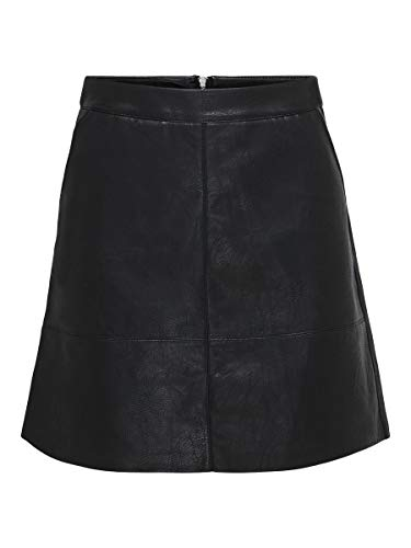 Only ONLLISA Faux Leather Skirt CC OTW Falda, Negro, 42 para Mujer