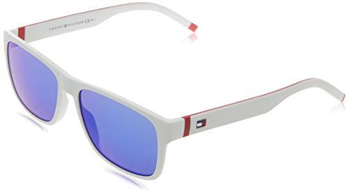 Tommy Hilfiger TH 1718/S gafas de sol, BLANCO ROJO, 56 para Hombre
