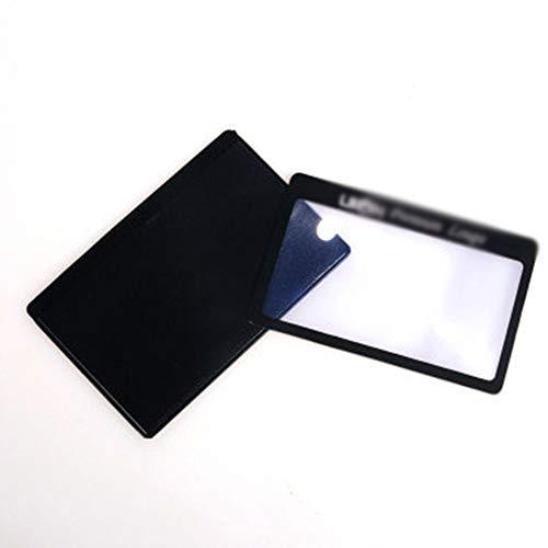 3X Compact Draagbare Credit Card Vergrootglas Portemonnee Pocket Lens Fresnel Lens Geschikt voor het lezen en bekijken van kleine objecten Vergrootglas