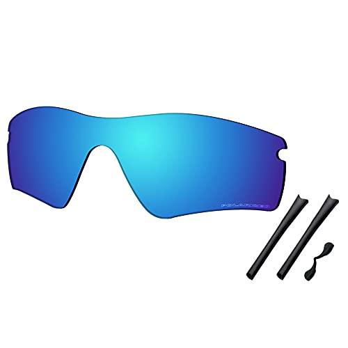 Saucer Premium Replacement Lenses & Rubber Kits for Oakley Radar Path Sunglasses High Defense - Glacier Blue Polarized