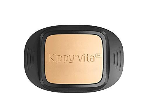 Kippy - Kippy VITA S+ - Collar GPS y Rastreador de Actividad para Perros - Localizador de Mascotas con GPS Integrado - Marrón y Negro