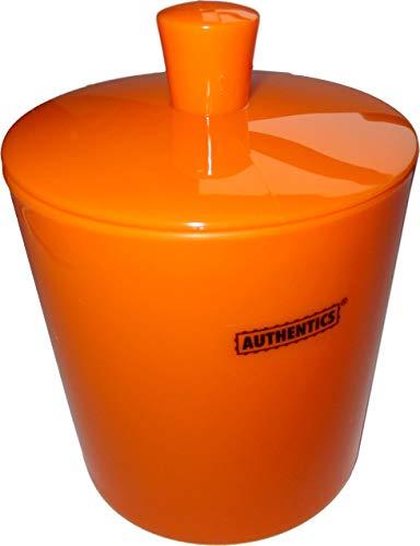 Authentics Kosmetik-Eimer/Mini-Abfalleimer/Tischabfalleimer mit Deckel (orange)