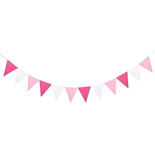 Heng kleurrijke vilt banner slingers verjaardag bunting wimpel bruiloft guirlande vlaggen partij decoratie benodigdheden, Set4