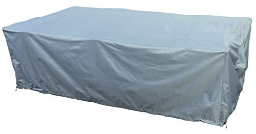 Kingsbridge Rectangular Garden Patio Furniture Table Cover 240x135x80cm Waterproof-600D Heavy Duty Fabric-Double Stitching-UV Protection-Breathable Outdoor Furniture Cover