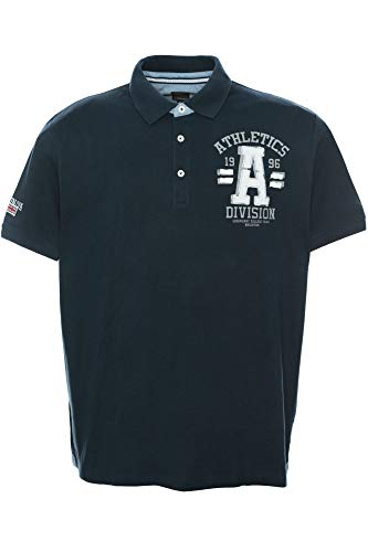 Kitaro Poloshirt Polo Shirt Hemd Herren Kurzarm Baumwolle Piqué Plusgröße, Farbe:dunkelblau, Herrengrößen:3XL