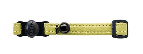 HUNTER Capri Katzenhalsband, Leder, Nappa, weich, Sicherheitsverschluß, lindgrün