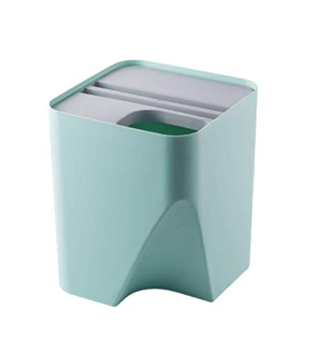 ZKCXIM Household Kitchen Trash Bins, Recycling Bins, Stacked Classification Trash Bins, Wet and Dry Separation Trash Bins, Bathroom Trash Bins