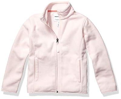 Amazon Essentials Girl's Full-Zip Polar Fleece Jacket, Light Pink, Small