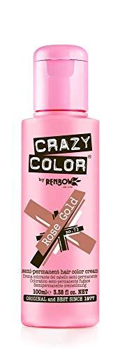 Crazy Color Crema Colorante Vegetale per Capelli , Rose Gold - 100 ml