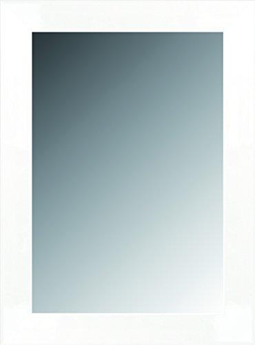 Canvas Levante datab06-6 - Spiegel bad/gang decoratie, 88 x 67 cm, wit