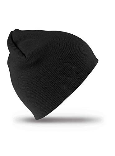Result Rc044 Bonnet Softfeel Unisexe Taille Unique Casquette Noire.