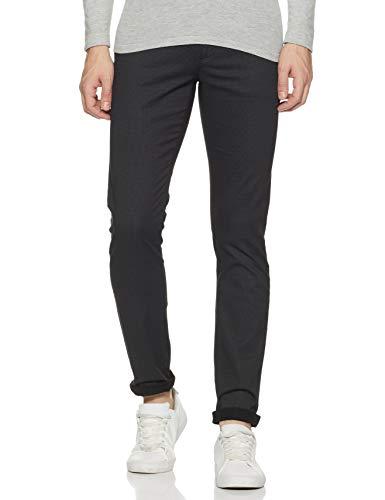 Arrow Sports Men's Slim Fit Casual Trousers (ASZTR2477_Black_34W x 35L)