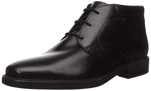 Geox U844VA00043C9999-N10 Herren Stiefelette aus Glattleder Textilausstattung, Groesse 40, schwarz