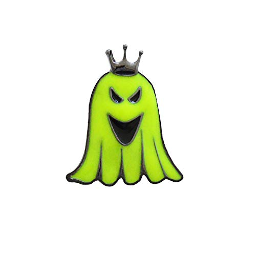Cosanter Broche de fantasma fluorescente de Halloween, Accesorios de Ropa Sombrero Suéter Bufanda Decoración Halloween Regalo (E) 2,5 x 3 cm
