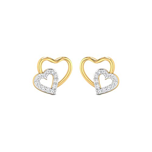 0.48 Carats White Diamond Stud Earrings Solid 14k Yellow Gold Certified Diamond Earrings For Women Anniversary Wedding Gift For Her