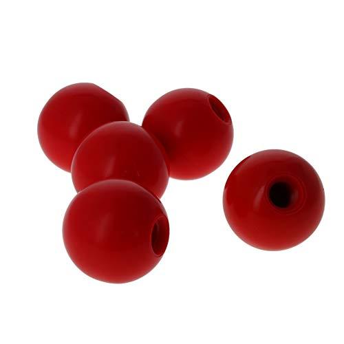 Othmro Duroplast-Kugelknauf, M10, Innengewinde, Maschinengriff, 35 mm Durchmesser, glatter Rand, Rot, 5 Stück