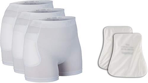 Suprima Juego de 4 braguitas protectoras de cadera, 3 x 1-4900 y 1 x 2008, talla XXL