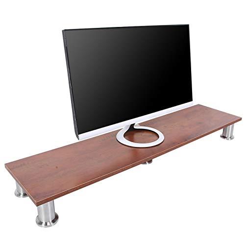Soporte para monitor y monitor de escritorio, organizador moderno para monitor de computadora, soporte para monitor multimedia, soporte de sobremesa, para pantalla plana, TV, ordenador, portátil(L)